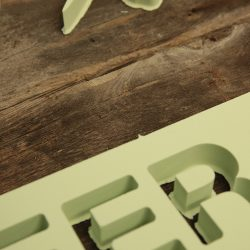 Placing letters for a custom wood sign