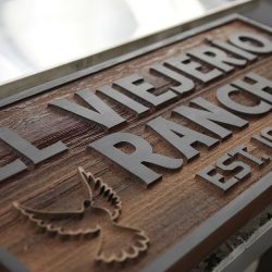 Custom wood signage for El Viejerio Ranch