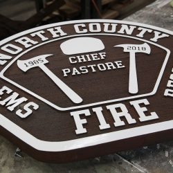 Commercial signage for North County EMS Fire Rescue