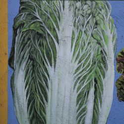 Custom painted mural of lettuce by our sign makers