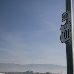 Metal signs for South US 101