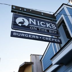 Custom wood signs for Nick's on the Bay