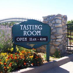 Custom vineyard sign for our client's tasting room