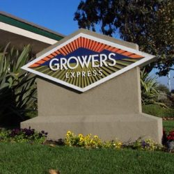 Custom business sign for Growers Express