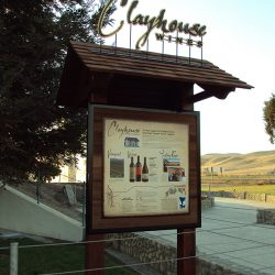 Clayhouse Wines custom business sign