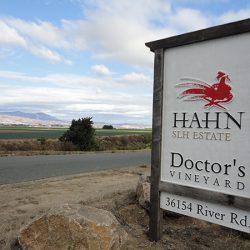 Custom sign built for Hahn Estates Doctor's Vineyard