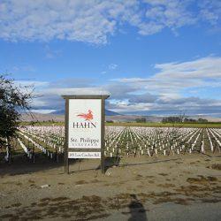 The custom sign for Hahn Estates Ste Phillipe Vineyard