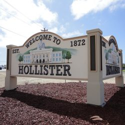 Custom business sign in Hollister, CA
