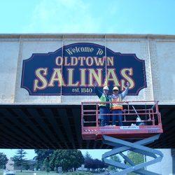 The custom mural for Oldtown Salinas