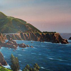 Custom wall mural of the beautiful coast line