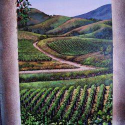 Farm land in our custom wall mural