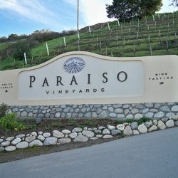 Custom winery sign for Paraiso Vineyards in Soledad