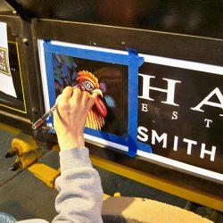 A custom sign for Hahn Estates