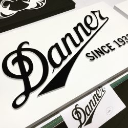 Black and white dimensional wooden sign