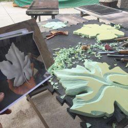 Making of leaves for custom sign