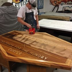 Staining Hermosa Beach Tower12 sign