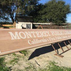 Monterey Public Library custom wood sign