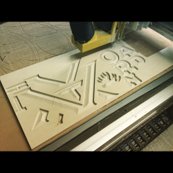 The making of a sign in production