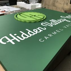 Production of wood sign with dimension