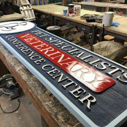 Veterinarian custom wooden sign