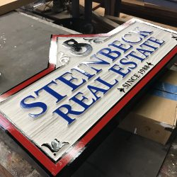 Steinbeck Real Estate dimensional sign