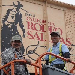 A custom wall mural for the California Rodeo