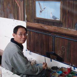 The making of a custom wall mural