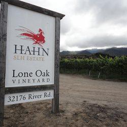 Custom business sign for Lone Oak Vineyard