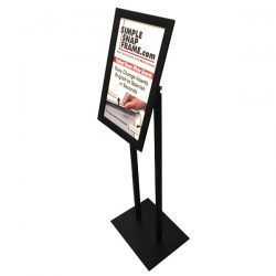 sign display stand angled view Simple Snap Frame