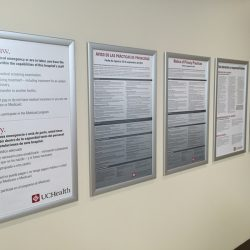 hospital notices frame displays Simple Snap Frame