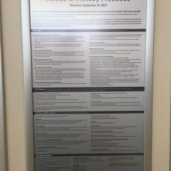 privacy notice framed display Simple Snap Frame
