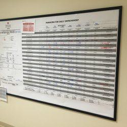 hospital white board Simple Snap Frame
