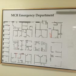 emergency department hospital white board Simple Snap Frame
