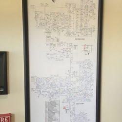 hospital map frame display Simple Snap Frame