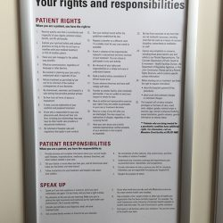 patient rights framed display Simple Snap Frame