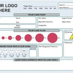 maternity ward communication board design Simple Snap Frame