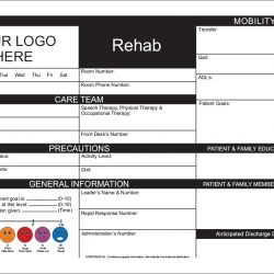 rehabilitation white board design Simple Snap Frame