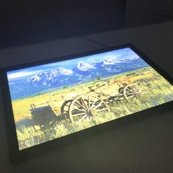 LED frame display angled view Simple Snap Frame