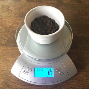 one ounce coffee beans