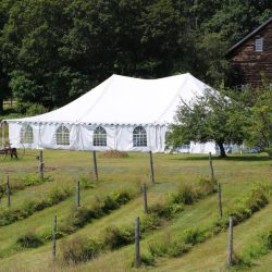 Large tent rental on a farm - Skyline Event Rentals