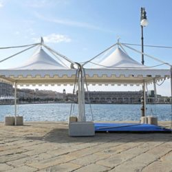 Tent rental by the water - Skyline Event Rentals