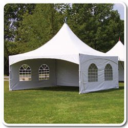 Tent rental with side walls - Skyline Event Rentals