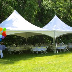 Two tents at a party - Skyline Event Rentals