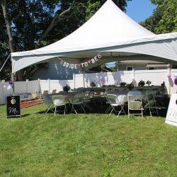 Tent rental at a bridal shower - Skyline Event Rentals