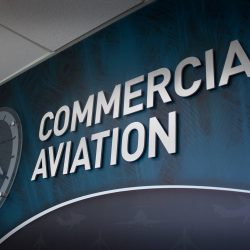 Commercial aviation office sign designed by Skyline E3