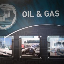 An oil and gas office display from Skyline E3