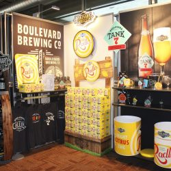 A tradeshow booth designed and built by Skyline E3.