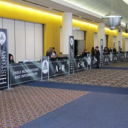 Standing banners and exhibition booths from Skyline E3.