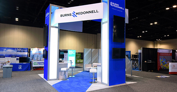 A completed exhibition stand from Skyline E3.