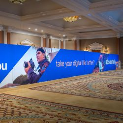 Giant trade show display designed and built by Skyline E3.
